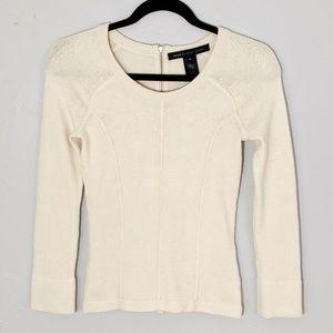 Marc Jacobs cream Brigitte seamed sweater XS NWT